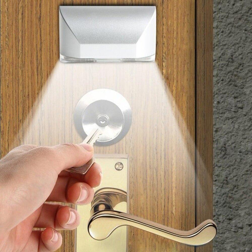 STYLISH Intelligent 4 LED Lights Door Lock Cabinet  Sensor Lamp Key Induction Small Night Light Low Power By Dry Battery AA