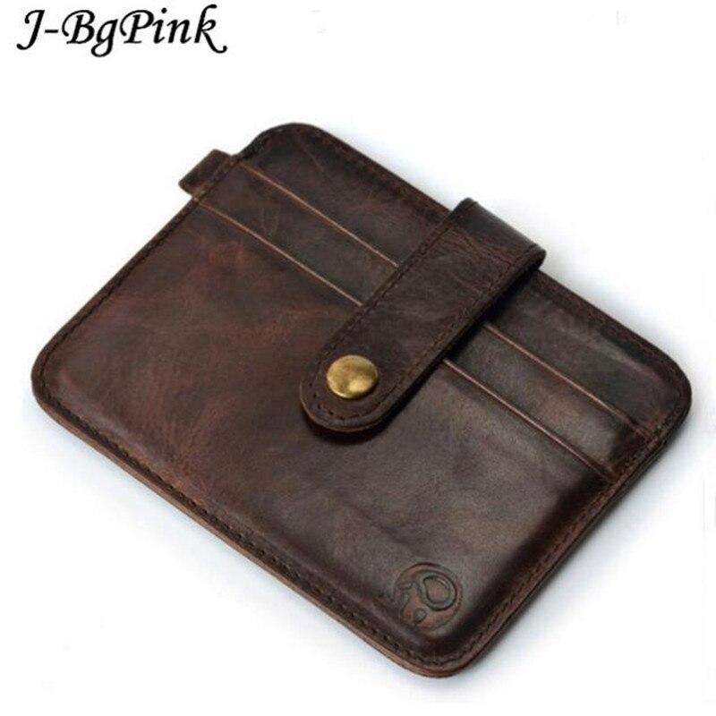 Famous Brand Luxury Slim Wallet font b Men b font Purse Male clamp for Money Clip