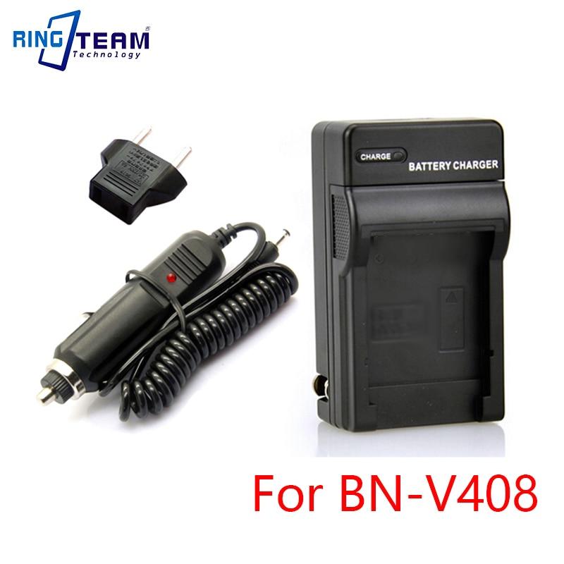 BN V408 V416 V428 Batterie Chargeur avec Adaptateur De Voiture Kit pour JVC Caméra Caméscope GY-HD100 GY HD100U HD110 HD110U DV300U GR-DZ7