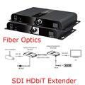 SDI HDbiT Волоконной Оптики Продлить LKV378SDI HD-SDI 3G-SDI SD-SDI Extender 20 КМ По Волоконно-Оптического Кабеля ИК Пульт Дистанционного Управления 1080 P