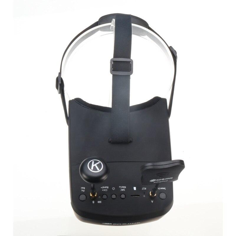 En Stock!! Eachine EV800D 5.8G 40CH 5 pouces 800*480 casque vidéo HD DVR diversité FPV lunettes avec batterie pour modèle RC - 5