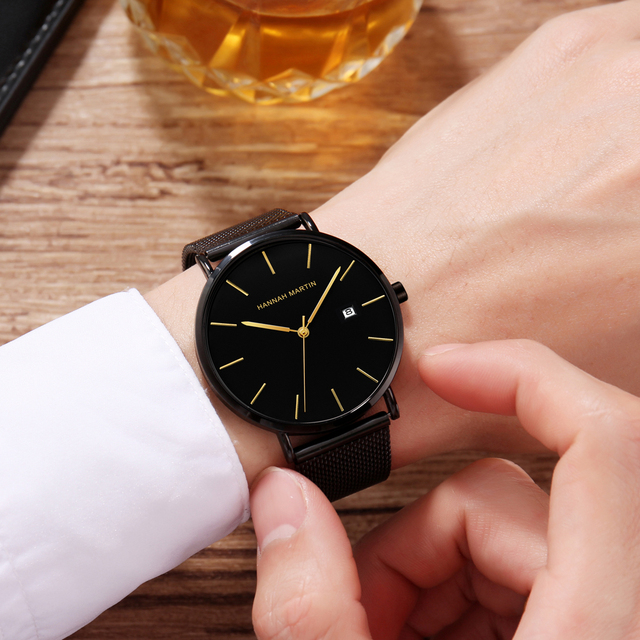 Men watches top Brand Japan Quartz Movement Waterproof Wristwatches Fashion business Luxury Ultra Thin date male Watches relogio 5
