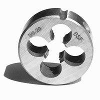 Darmowa wysyłka 1 PC hss6542 wykonane BSF standardowy BSF3/8 20 narzędzia do gwintowania wątek ekspres do metalu obrabianego przedmiotu gwintowania w Tap & Die od Narzędzia na