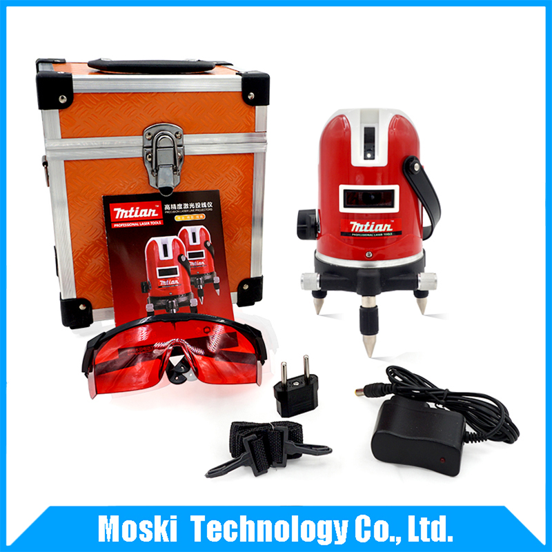 ФОТО New Mtian ! ! Freeshipping !! 5 lines 6 points laser level 360 rotary cross laser line leveling with outdoor model