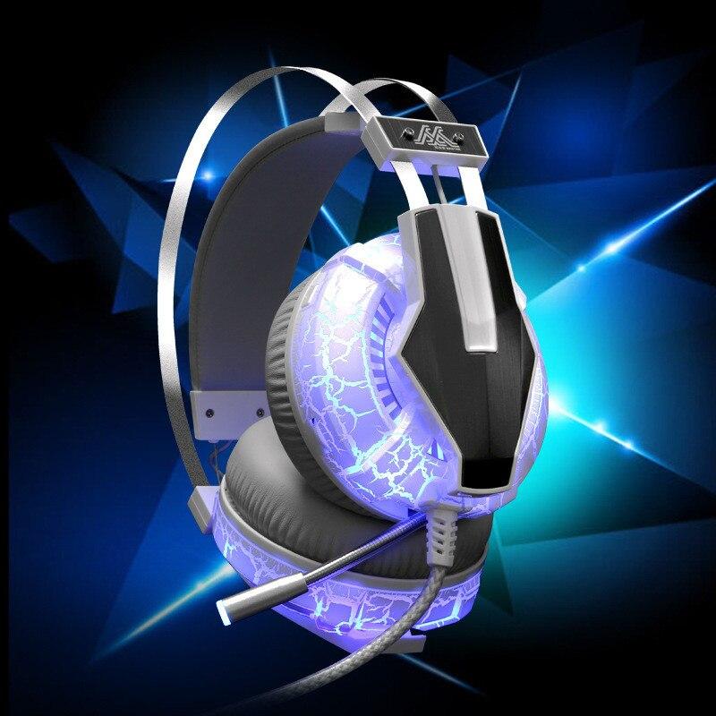 G95 Gaming Headset USB&3.5mm Gaming Headphones Blue LED light for PC phone Headphones High Quality