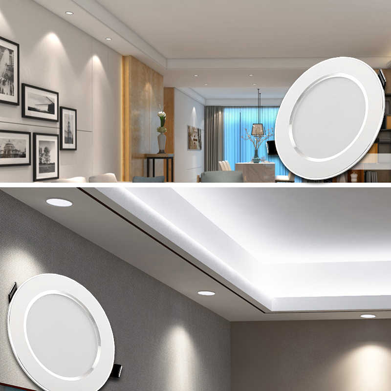LED תקרת אור 220 V 3 W 5 W 7 W 9 W 12 W 15 W 230 V led פנל אור לסלון קר לבן חם לבן