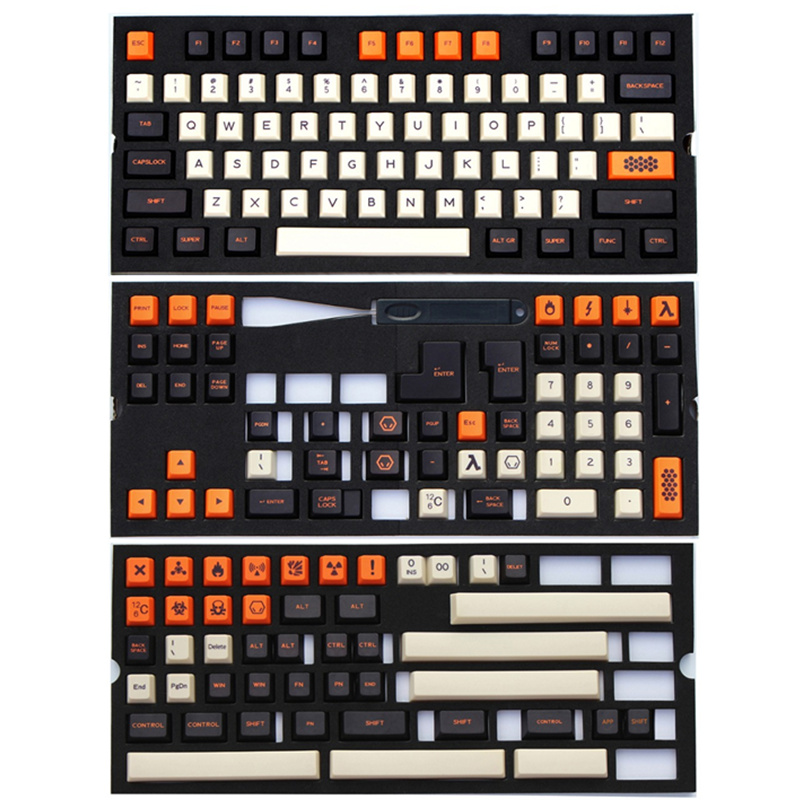 PBT Carbon Keycaps Dye-Sub ANSI ISO Cherry MX Keycaps 172 Keycap Set For 60%/<font><b>TKL</b></font> 87/104/108 MX Switches <font><b>Mechanical</b></font> <font><b>keyboards</b></font> image