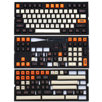 PBT Carbon Keycaps Dye Sub ANSI ISO Cherry MX Keycaps 172 Keycap Set For 60%/TKL 87/104/108 MX Switches Mechanical keyboards