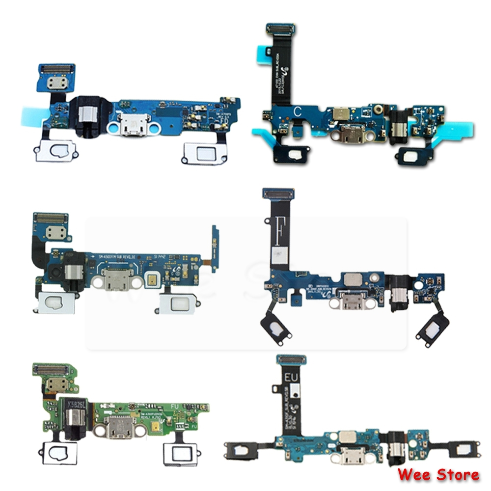 For Samsung Galaxy A3 A5 A7 2015 2016 A310f A510f A710f Original USB Charging Port PCB Board Charger Dock Connector Flex Cable
