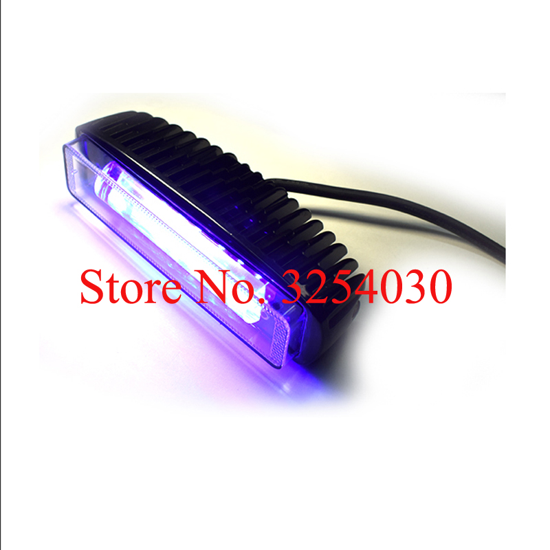 Electric Vehicle Parts Reasonable Supply Domestic Led Black Rectangle 10-80v 18w Electric Forklift Safety Light For Warning Sg-lw18r With Blue Light 160*45*62mm