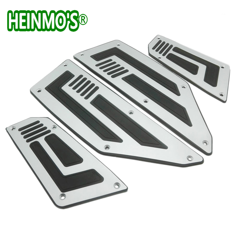 Heinmo 1 Set Front and Rear Motorcycle Foot Pegs Silver Footrest Step Motorbike Pedals Foot Pegs For Yamaha T MAX T-max 530 Silver