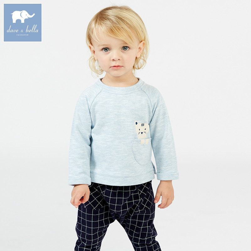 DB7379 dave bella spring baby boys blue clothing sets toddler children suit high quality toddler outfits Clothing Suits db7386 dave bella spring baby boys clothing sets panda print toddler children suit high quality infant outfits