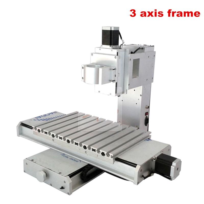 Mini CNC cadre bricolage 3040 3 axes 4 axes 5 axes gravure en aluminium tour lit avec 1605 vis à billes de précision