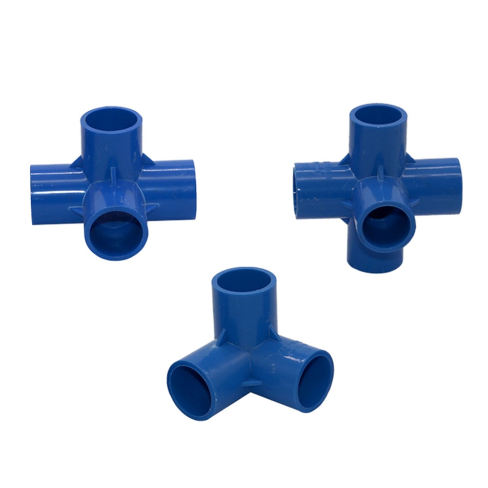 20mm/25mm/32mm PVC Tee Connector 4-way, 5-Way Joint Agriculture Irrigation Watering Tube Adapter Pipe Fittings 1 Pc image