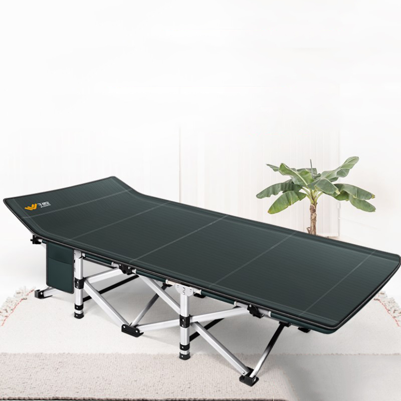 все цены на Simple Portable Cot Bed for Home Office Nap Convertible Folding Chaise Lounge Strong Metal Frame Beach Chair with Paper Holder