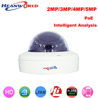 Heanworld Newest H 265 Poe Camera 2MP 3MP 5MP Metal Cam Intelligent Analysis Night Vision Hd