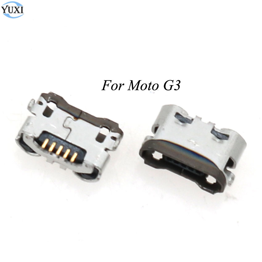YuXi 2pcs Micro USB Charge Jack Socket USB Port Charging Connector For Motorola MOTO G3 G 3rd Gen XT1543 XT1542 XT1541 XT1540