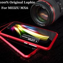 Luphie Оригинал Meizu MX6 бампер ультра тонкий алюминиевый металлический каркас для Meizu MX6 MTK helio X20 5.5 «бампер