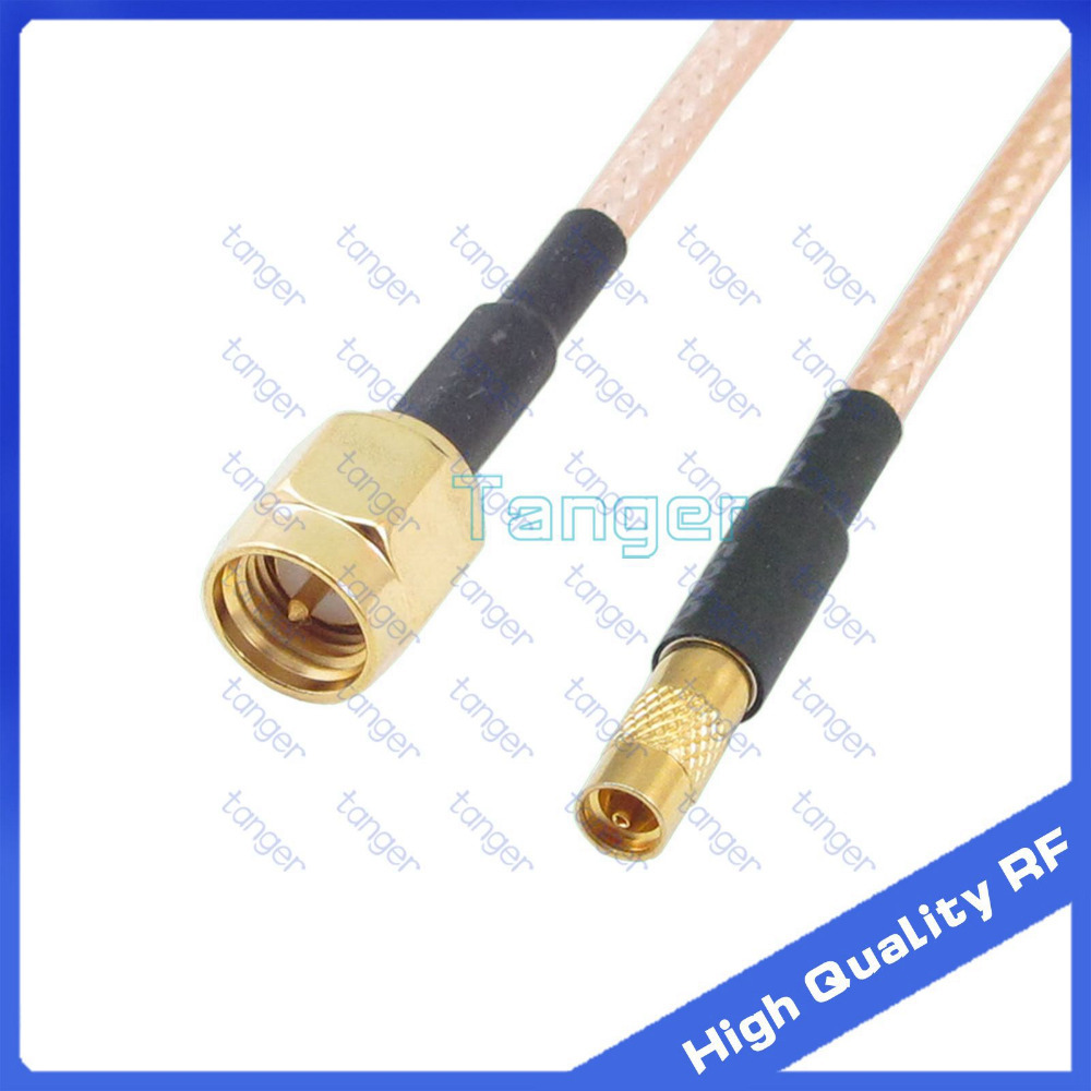 NEW MMCX female to SMA male plug straight connector with 20cm 8in 8 8inch RF RG316 RG-316 RF Coaxial Pigtail High Quality cable rf coaxial cable rg142 sma male plug switch tnc female bulkhead adapter 50cm 20 high quality low attenuation