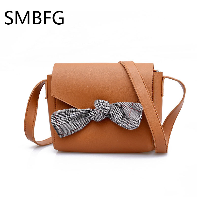 Women Handbag with Bow Female PU Leather Small Bags Handbags Ladies Portable Shoulder Bag Office Ladies Hobos Bag 2018 New 2