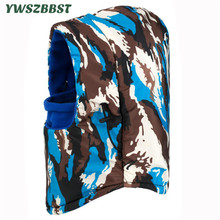 New Warm Camo Waterproof Hooded Hat for Winter Women Men Beanies Hat Hooded Scarf Collar Riding Cap Windproof Outdoor Hat Unisex men women balaclavas multifunction masked cap outdoor windproof cycling hooded scarf practical warm hat mz5230