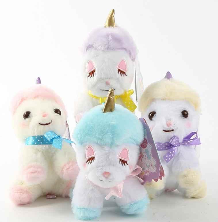 1 шт. Симпатичная плюшевая игрушка единорог Маленькая подвеска чучела лошадь сумка Подвеска для девочек игрушки подарок