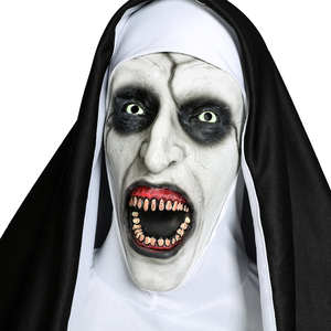 Image 3 - Movie The Nun Cosplay Valak Costume Virgin Mary Monja Deluxe Scary Costumes For Men Women Halloween Party