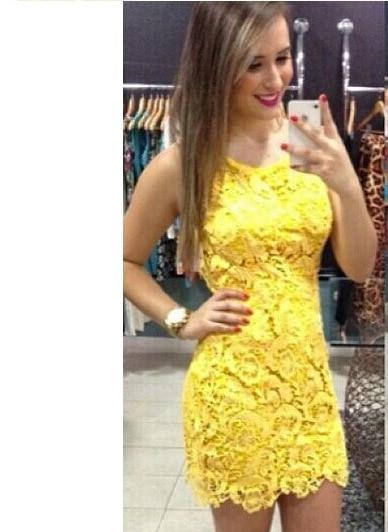 Yellow backless dress ebay