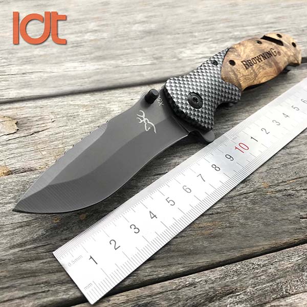 LDT Folding Knife 5Cr13Mov Blade Imitate Carbon Fiber Handle Camping Hunting Survival Knifes Pocket Outdoor Knife EDC Tools