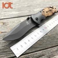 LDT Folding Knife 5Cr13Mov Blade Imitate Carbon Fiber Handle Camping Hunting Survival Knifes Pocket Outdoor Knife