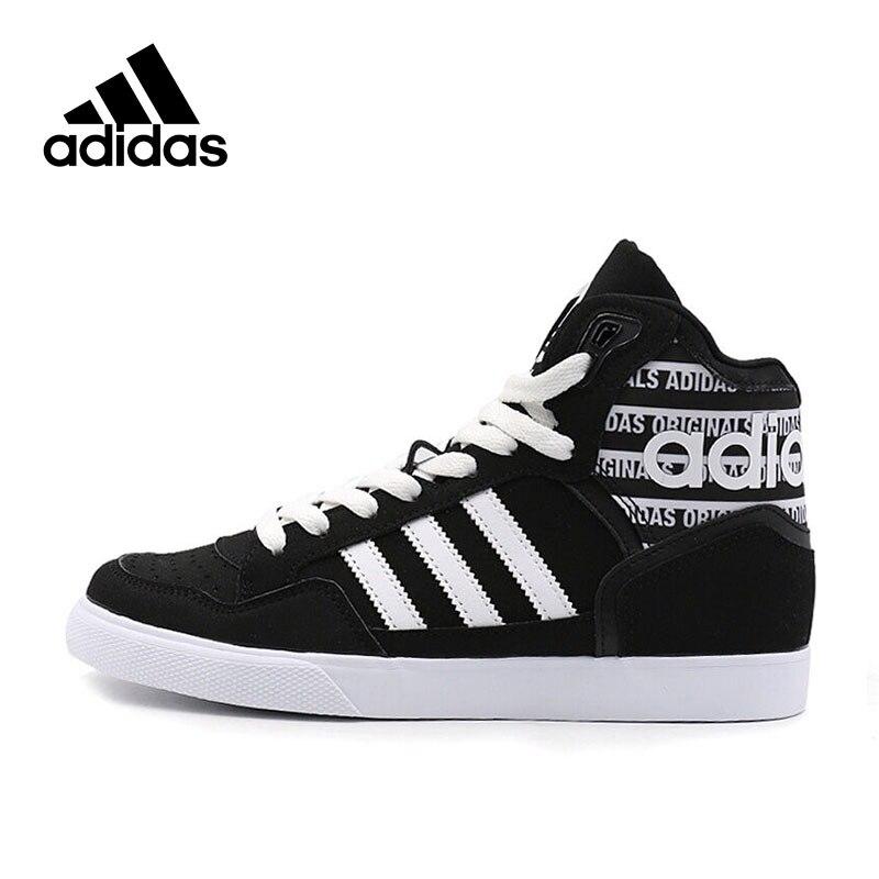 Genuine Adidas Sneakers New Originals Sports Black White Stripe Letter Unisex Skateboarding Shoes High-top Adidas Sneakers adidas adidas 3 stripe hoody