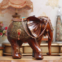 European high grade resin decorations elephant large living room feng shui ornaments crafts creative home accessories