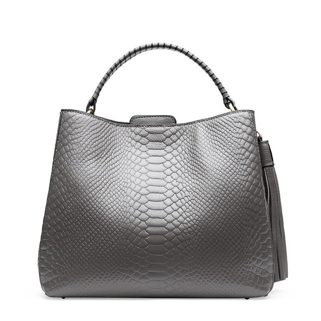Piccola borsa a tracolla per le donne borse a tracolla delle signore retro del cuoio genuino della borsa della borsa con nappe femminile crossbody bag - 3