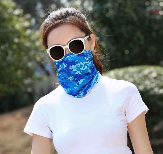 Unisex Solid Colors Cycling Face Mask Racing Tube Scarf Bandana Head Neck Gaiter Warmer Snood Bicycle Riding Headwear Beanie