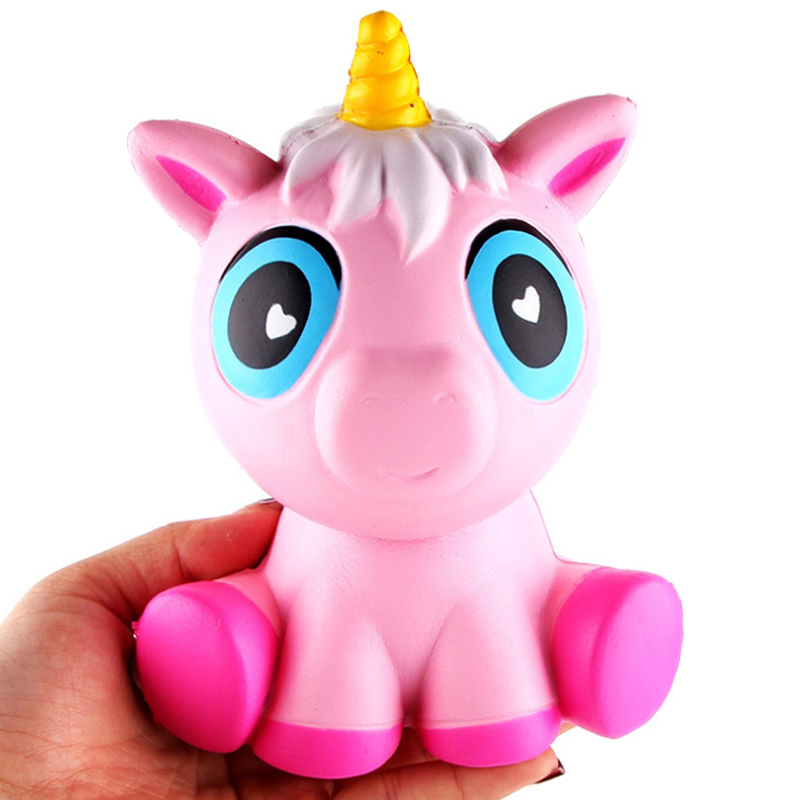 Jumbo Kawaii Unicorn Squishy Cartoon Doll Simulation Slow Rising Bread Squishies Squeeze Toy Scented Stress Relief Fun Kids Gift