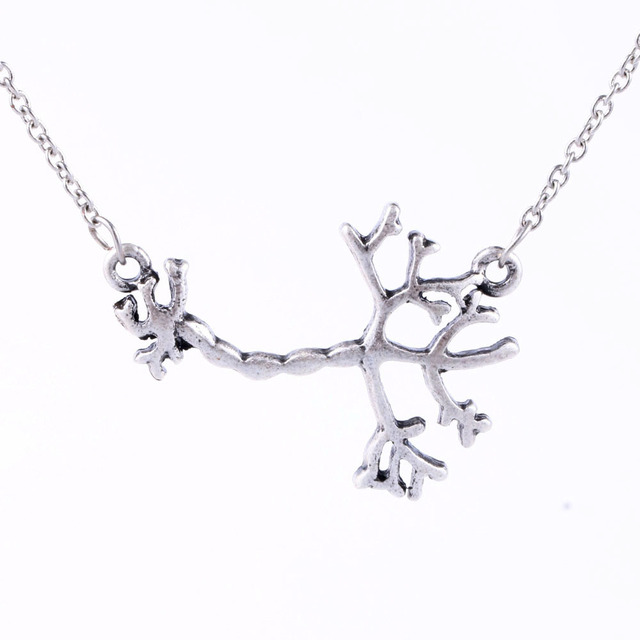Punk 3D Science Jewelry Human Neuron Necklace Anatomy Pendant Eco ...