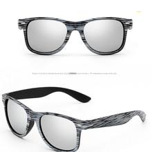 620a9a1daf [EL Malus] Imitataion de madera nuevo Retro marco cuadrado gafas de sol de  las mujeres para hombre Azul Rojo lente tonos amarill.