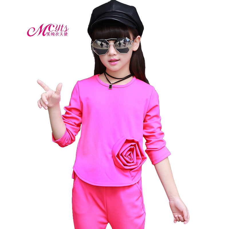 Girl Clothing Sets Spring Autumn Girls Sport Suits 2018 New Fashion Kids Tracksuit Cotton Children Clothes 4 6 8 10 12 Year old