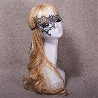 Lüks Moda Venedik Metal Lazer Kesim Topu Masquerade Maske Parti Düğün Maske Gümüş Kostüm Maske ücretsiz kargo