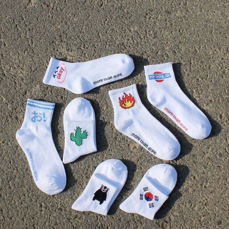 2017 New Fashion High Quality Cute Cactus Japan Harajuku Cotton Casual Socks Men Happy Warm Cartoon Winter Funny Socks