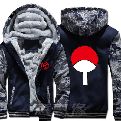 Naruto Coat Jacket Winter Men Thick Zipper Sweatshirt Hoodie