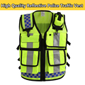 Men's motorcycle reflective vest cycling safety vest workwear hi vis vest tool vest free shipping