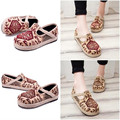 Creepers Linen Embroidered Casual Women Old Peking Cloth Shoes Boho Style National Handmad Platform Flat Loafer Shoe Espadrilles