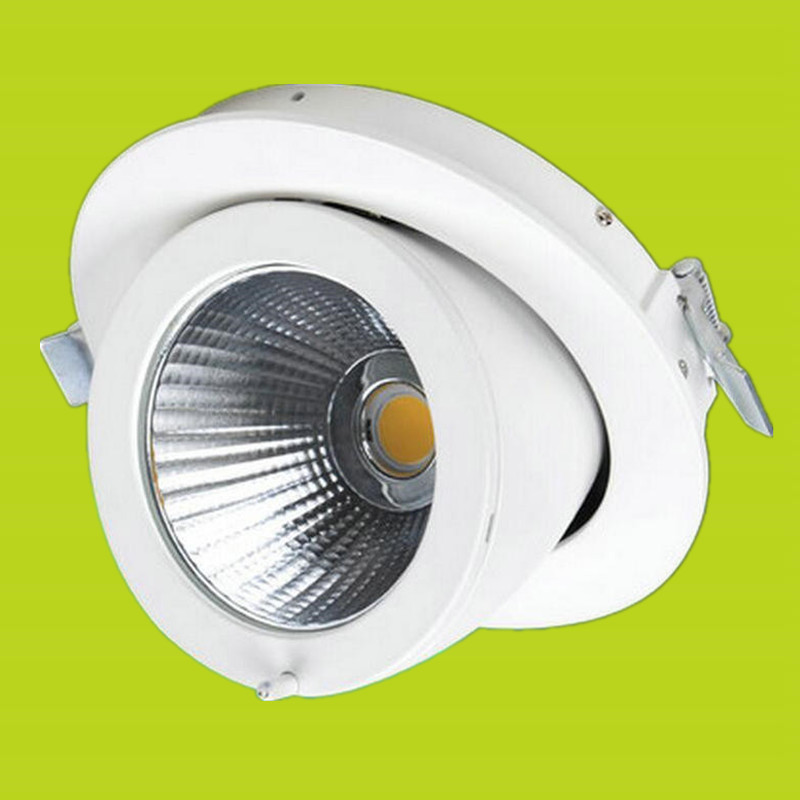 Rotate 360 degrees Dimmable Recessed LED Downlight COB 20W LED Spot light LED Ceiling lamp AC 110V 220V Free shipping dimmable led cob ceiling light 3w free shipping china post with track led lamp bulb led spotlight 110v 220v aluminum body