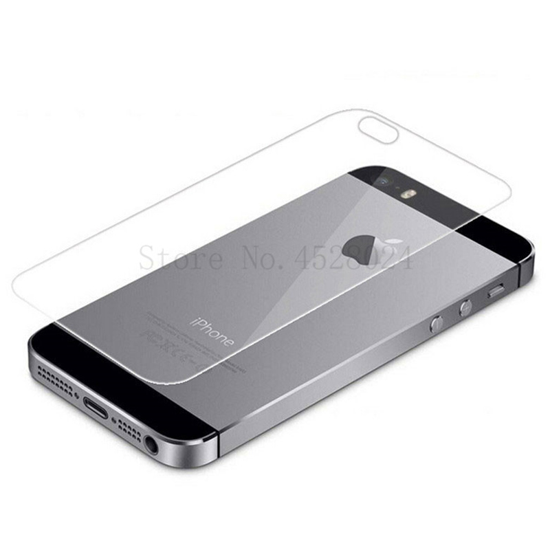 Front And Back Clear Tempered Glass Screen Protector For iPhone 5 5S SE Film 5