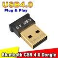 Mini Adaptador USB Bluetooth CSR V4.0 Modo Dual Wireless Dongle Bluetooth 4.0 Transmisor Para Windows 10 Windows 7 8 Xp vista Del Ordenador Portátil