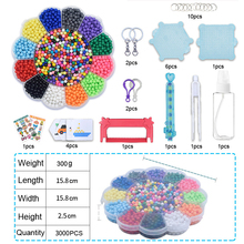 DOLLRYGA Magical Beads Solid Bead Refill Pack Water Sticky Boxed Set Stickiness For Children 3000pcs Kids Craft