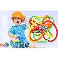 Inteligencia bebé Sonajeros Juguetes Recién Nacido Desarrollar Pequeños Loud Bell Ball Juguetes Infantiles Sonajero Campana de Mano de Plástico 0-12 Meses agarrar