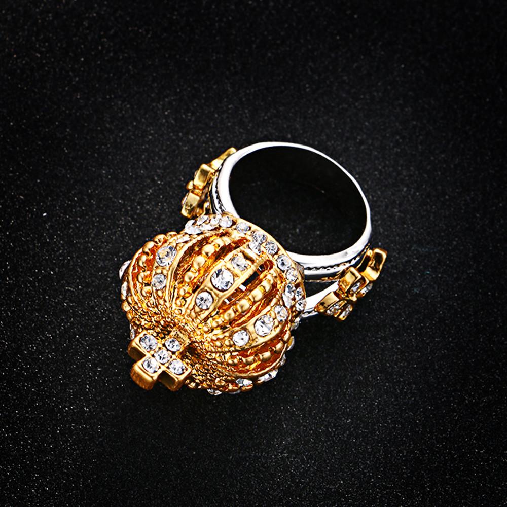 Rhinestone Imperial Crown Ring