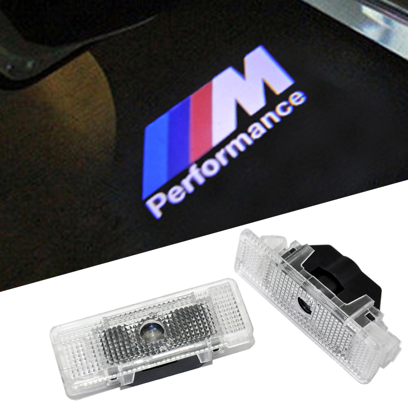 2 Car Door Light Decorative Lamp Ghost Shadow Light Welcome Laser Projector Lights LED Car Logo For BMW E39 X5 E53 M Performance 2 x newest led car door light ghost shadow light welcome laser projector logo for fiat panda doblo ducato bravo stilo 500 punto